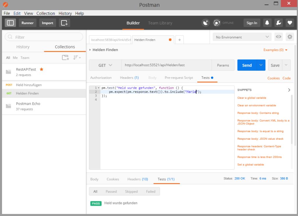 "API-Test-Tool ""Postman"""