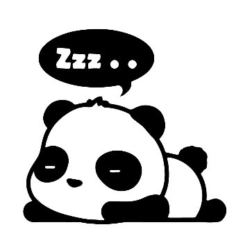 schlafender Panda