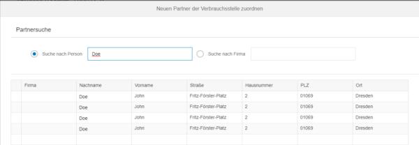 SAP Fiori - Auswahl des gefilterten Eintrages