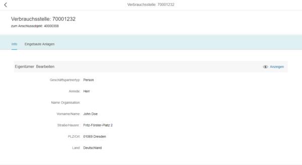 SAP Fiori - Aktualisierter Eigentümer