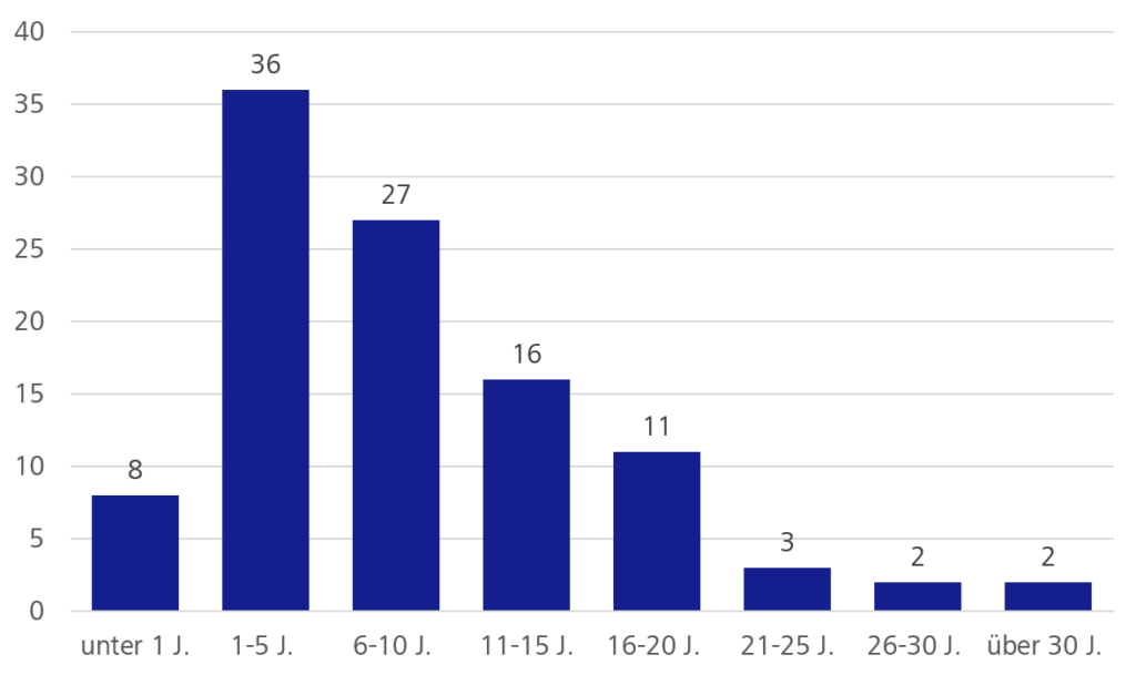 Alter von Softwaresystemen - Diagramm