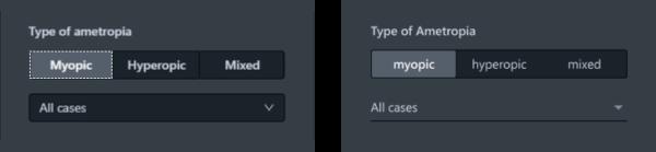 Beispiel für Abweichungen von der Implementierung (links) und für Styleguide-konformes Figma-Design (rechts)