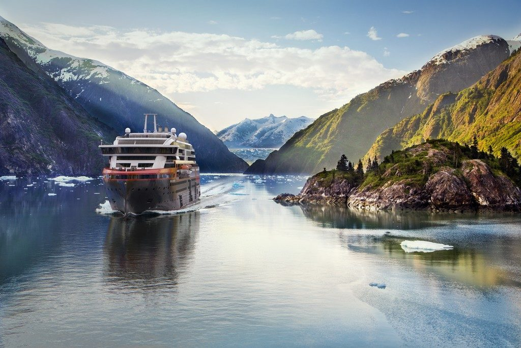 MS  Roald  Amundsen in Tracy Arm Fjord in Alaska Credit: Hurtigruten