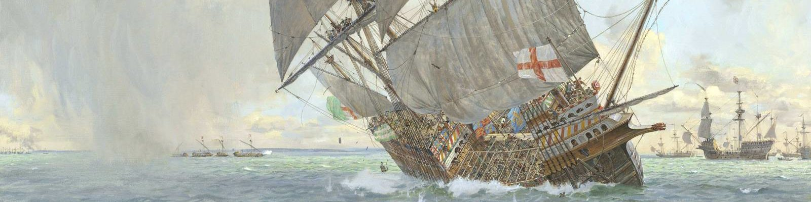 Painting of the Mary Rose sinking