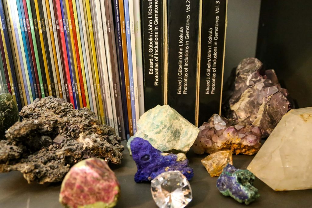 Shown here are few mineral specimens Nathan Renfro inherited from his grandfather that started his interest in gems and minerals. Photo by Nathan Renfro
