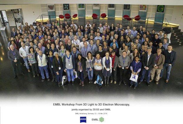 """EMBL-Workshop """"Von der 3D-Lichtmikroskopie zur 3D-Elektronenmikroskopie"""", gemeinsam organisiert von ZEISS und EMBL Heidelberg, Deutschland, vom 13. bis 16. März 2016"""