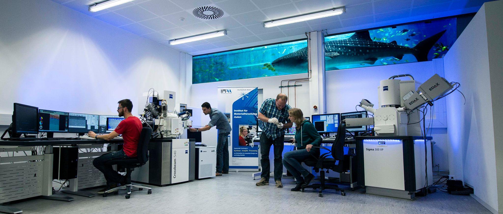 Das Labor für Elektronenmikroskopie am Institut für Materialforschung (IMFAA)