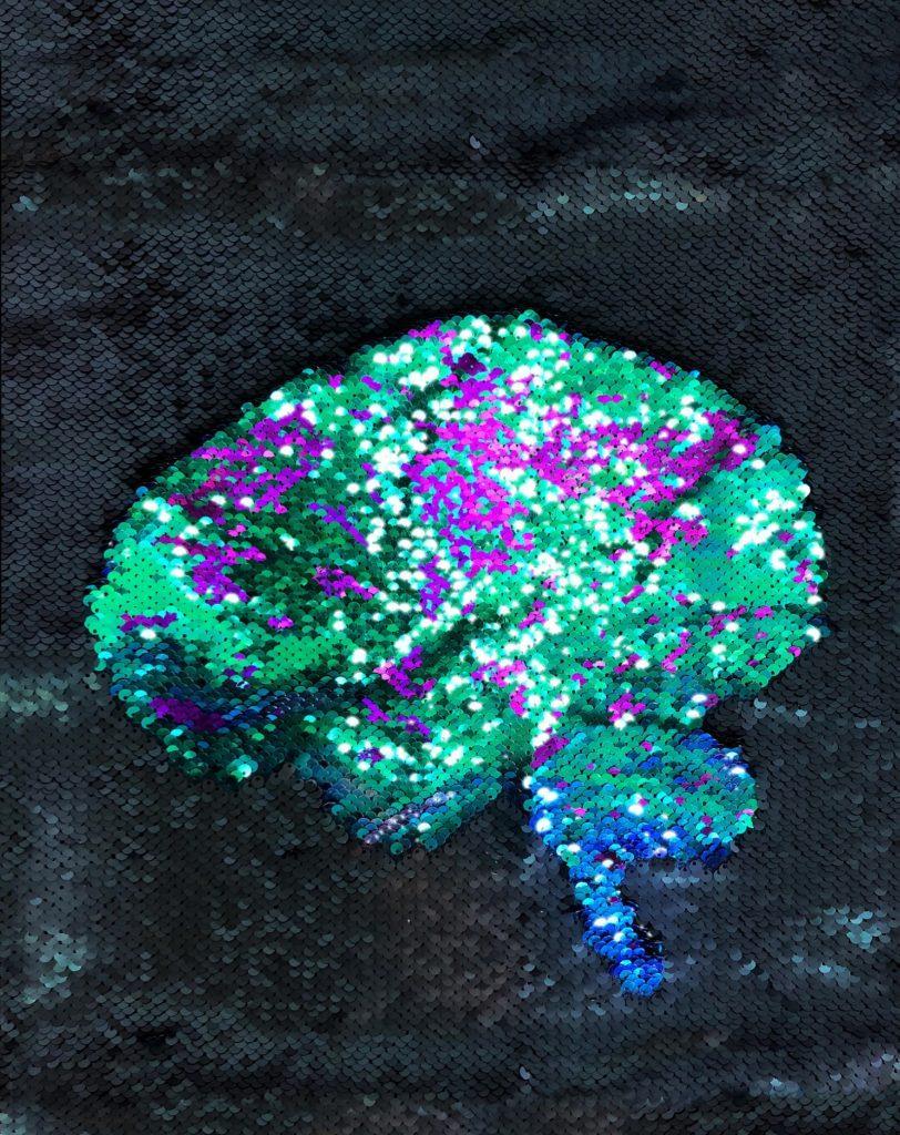 Sequin Brain Artwork