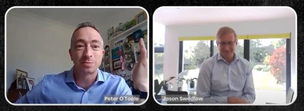 Dr. O'Toole im Interview mit Dr. Jason Swedlow (University of Dundee) – einer treibenden Kraft von Open-Source-Werkzeugen in der Entwicklung der Mikroskopie.