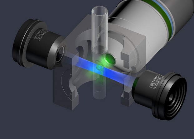 Principle of light sheet fluorescence microscopy with ZEISS Lightsheet Z.1