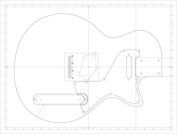 Vector drawing of the ZEISScaster for the wood cutting