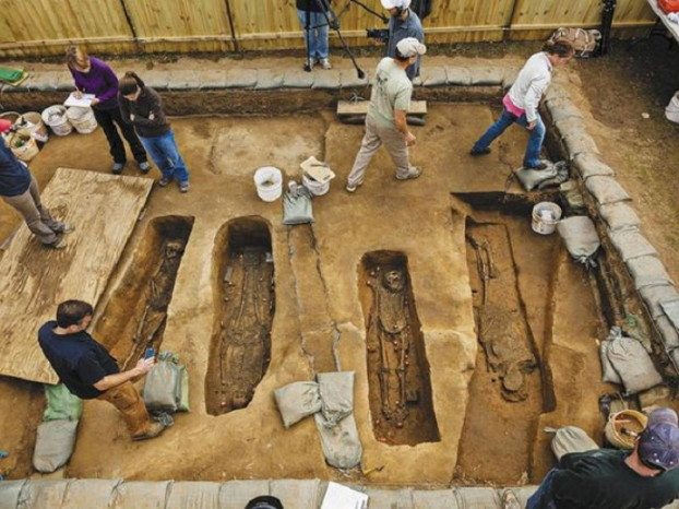 The Jamestown Excavation Site. Courtesy Jamestown Rediscovery Foundation 2015.