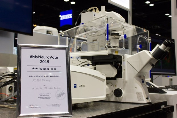 ZEISS LSM 880 with Airyscan wins #MyNeuroVote award at Neuroscience 2015