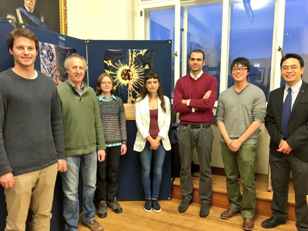 "All ""Picturing Engineering"" Image Contest winners with judge Ken Png from ZEISS Microscopy (on the right) at the ceremonial event on November 23 at Cambridge University Department of Engineering"