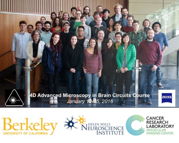 "Participants of the ZEISS Berkeley BrainMIC course ""4D Advanced Microscopy of Brain Circuits"" course January 2016"
