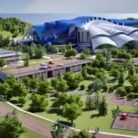 The Scientific and Educational Center Primorsky Aquarium is being built in Vladivostok, in the northeastern part of Russky Island. Render image courtesy of Primorsky Aquarium, Far Eastern Branch of RAS