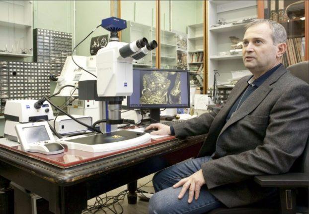 Igor Malkiel, Head of the Laboratory for Scientific Restoration of Precious Metals, State Hermitage Museum.