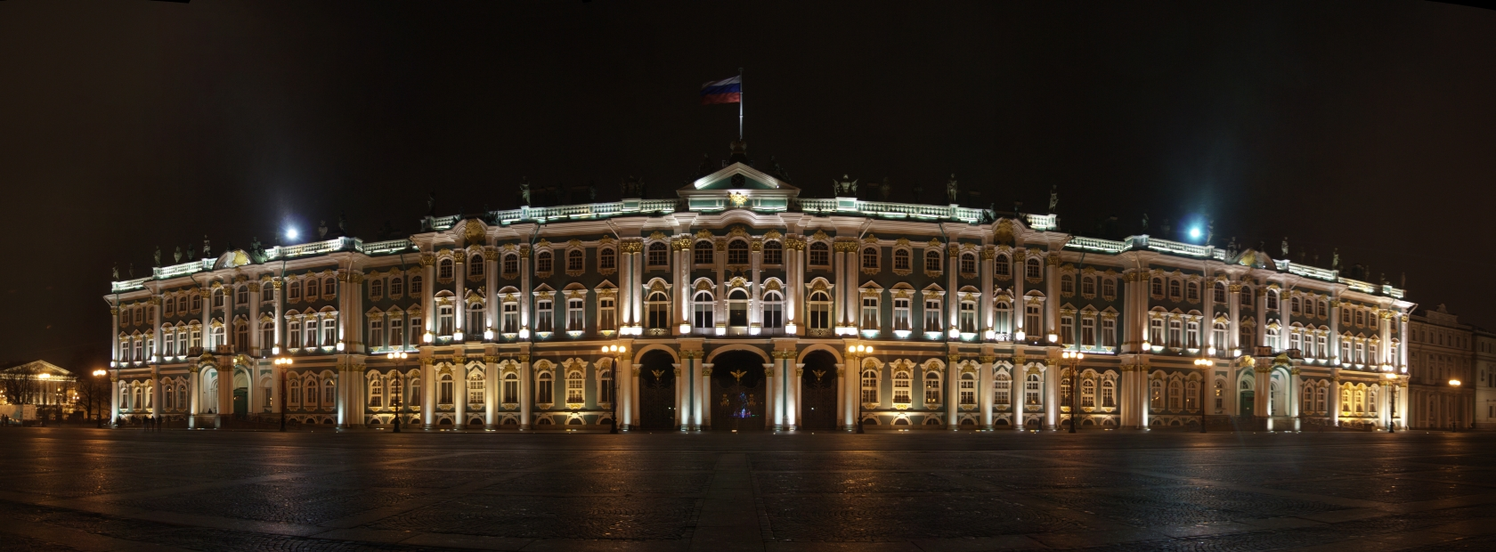 State Hermitage Museum in St. Petersburg at night