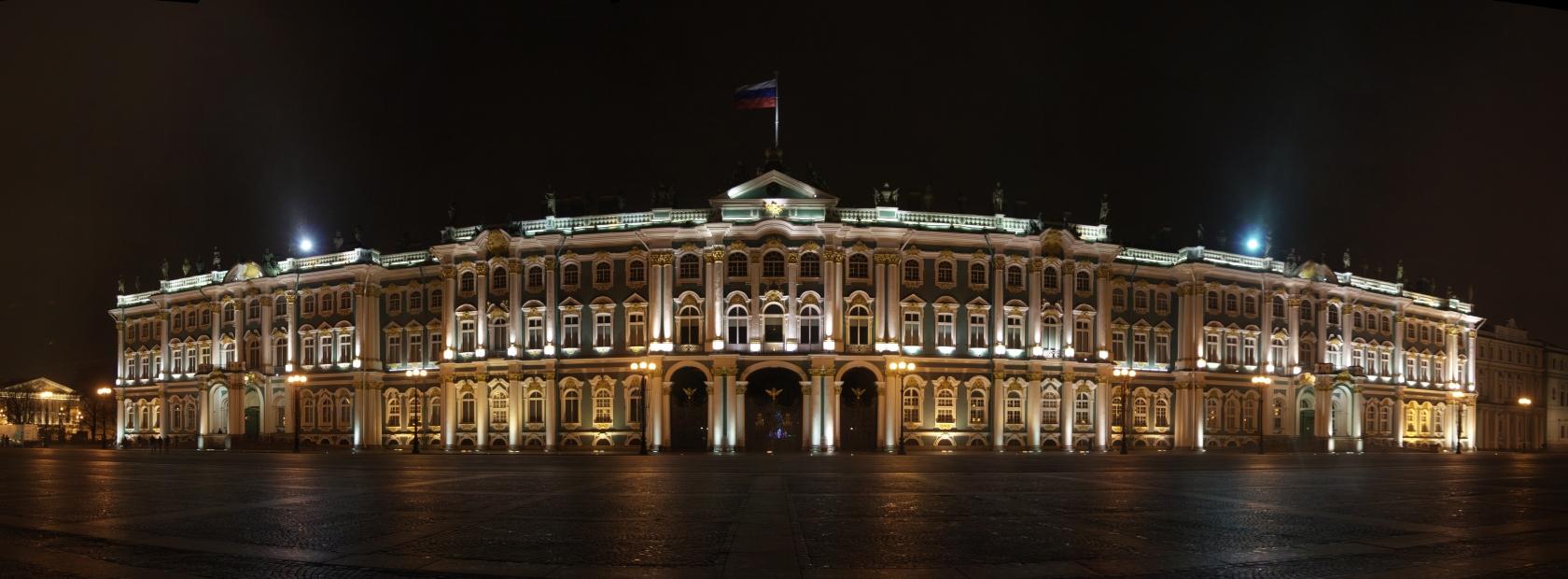 State Hermitage Museum in St. Petersburg at night