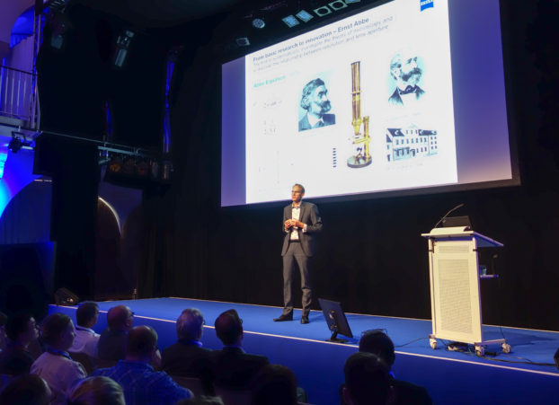 ZEISS Microscopy CEO Dr. Weber presenting history & future of microscopy
