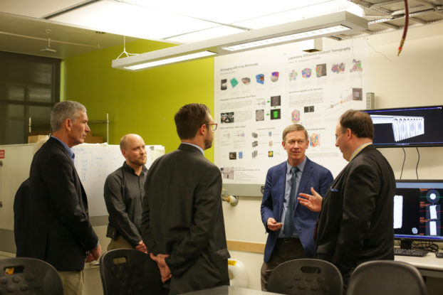 Colorado Governor Hickenlooper touring the ADAPT facility and learning about ZEISS Xradia X-ray microscopy