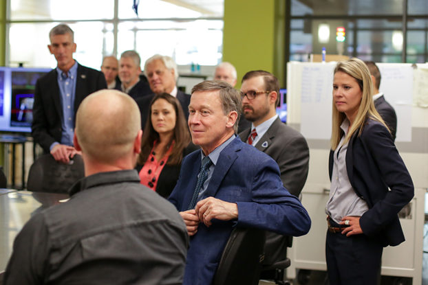 Governor Hickenlooper toured the facility and met with manufacturing leaders to discuss the growth of the sector
