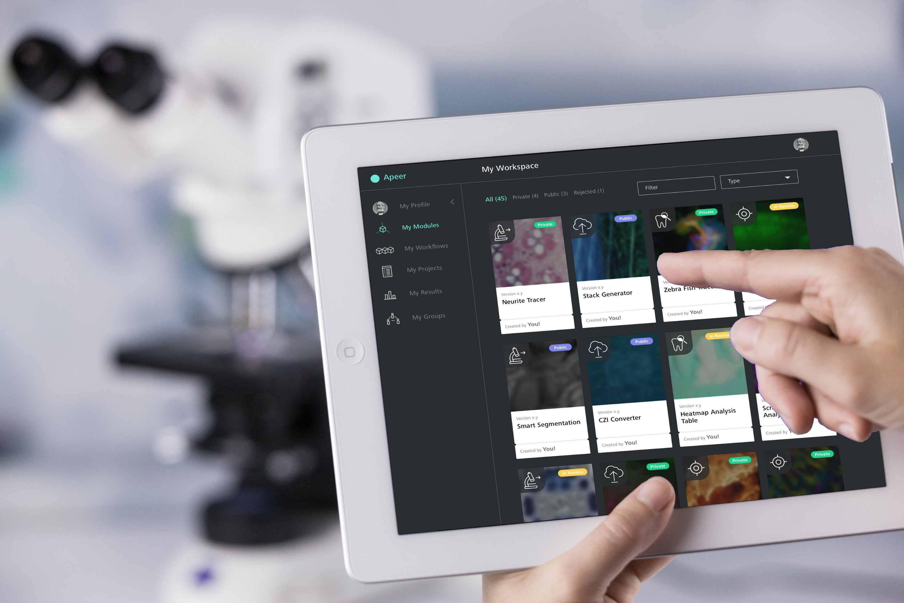 Initial release of APEER - the Digital Microscopy Platform for applications in science and industry