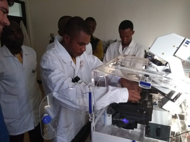 The participants appreciated the opportunities that have become available to them with the first confocal microscope to be located in West Africa.