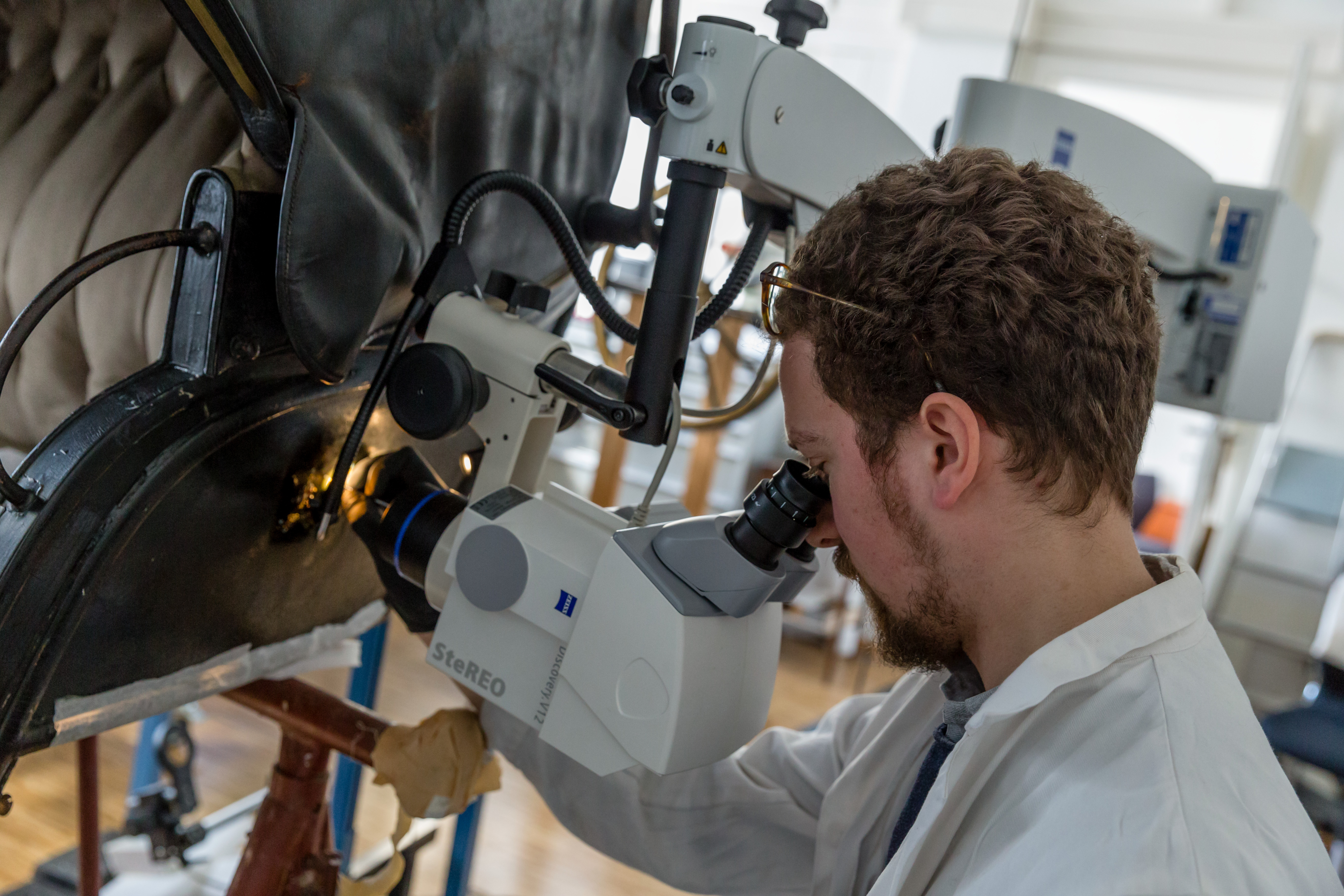 The conservation team at the Imperial Carriage Museum in Vienna