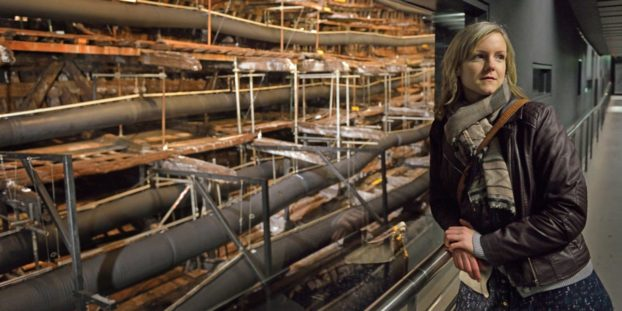 Elenor Schofield, Conservation Manager at the Mary Rose Trust