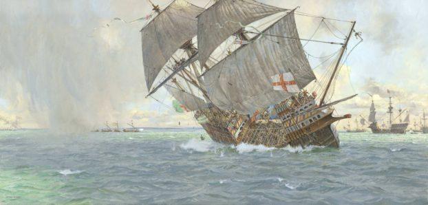 Mary Rose sinking (©Geoff Hunt, PPRSMA)4